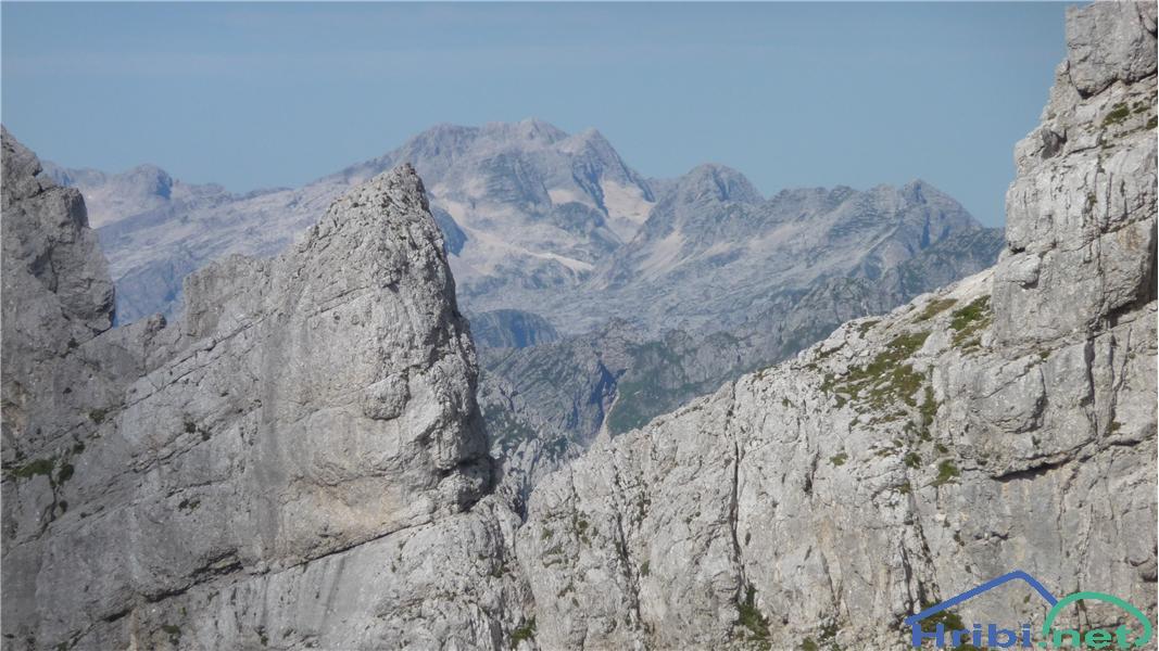 Kaninsko pogorje iz poti na Bovški Gamsovec