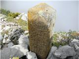 Crete dal Cronz - Zanimiv kamen na vrhu