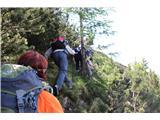 Planina Za Skalo in Kaluderna prevalu na Lepnsko stran se malo tepemo z ruševjem