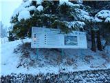 Ljubelj - Koča Vrtača3. stopnja nevarnosti snežnih plazov