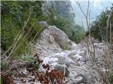 GrintovecBalvan, kjer je neurje odtrgalo spominsko ploščo.