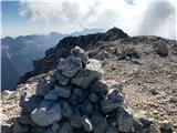 Divja koza - Cima di Riofreddo 2507 mViš - pogled proti glavnemu vrhu