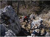 Ojstri vrh 1371mVzpon na njega