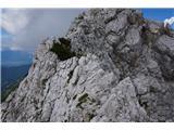 Prečenje Via de la Vita - Vevnica - Strug - PonceŠe eden od ozkih grebenov pred nama