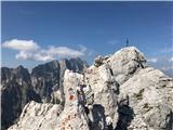Pot Chersi / Sentiero Alpinistico Carlo ChersiProti vrhu Velikega Nabojsa