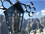 Pot Chersi / Sentiero Alpinistico Carlo ChersiVrh, v ozadju Poliški špiki