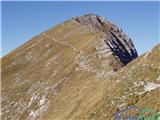Nesreča na poti na Veliki vrhVeliki vrh v grebenu Košute, slika je simbolična.