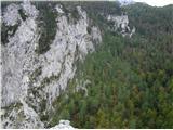 Ojstri vrh 1371mPogled z vrha na vidno potko proti Polšakovi planini