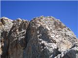 Monte Cristallo (3221)nekateri že sestopajo
