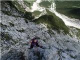 Ferata pod Češko kočo: drugi, lažji del ferate (junij 2015)