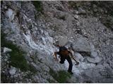Rjavčki vrh ali Planinšca ( 1898m )Po poličkah prvega skoka