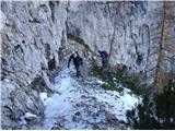 Ojstri vrh 1371mPod Slanicami. Ta del je tudi izredno lep in prepaden.