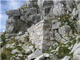 Batognicapot vodi mimo številnih ostankov  iz 1. svet. vojne