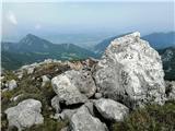 Stol, Potoški Stol, Vajnež, Mali vrh, Brezov vrh in Kamnitnikeden od naravnih mejnik kamnov..