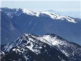 Storžič Krvavec, spredaj Srednji vrh in Cjanovca