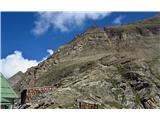 Grosses Wiesbachhorn 3564 mSkozi kamin na greben
