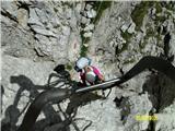 FERRATA SOSAT-Dolomiti di Brentaspust po lestvah