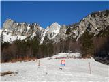 Ljubelj - Koča VrtačaTransportno reševalna cesta je še vedno zaprta