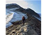 Grosses Wiesbachhorn 3564 mNa grebenu s pogledom na vrh