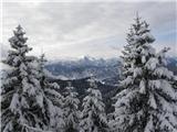Uganka brez prestanka za začetnike 2Razgled z gozdne ceste je takle, fajn je tud s kolesom gor it, sevede k ni snega
