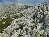 Monte Peralba (2694)pot po skalnem pečovju,nerodno v megli