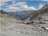 Solden - Ötztal Glacier Road - Rettenbach 2800 mTuristični kompleks pri ledeniku