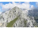 Vernarokoliški vrhovi so bili v meglicah, le Vernar je žarel v soncu