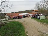 Škocjanske jameokrepčevalnica v vasi Brežec