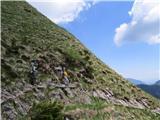 Begunjščicaproti planini Prevala