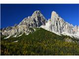 Tri CineŽe na poti proti jezero Sorapiss....v ozadju pa mogočni Monte Cristallo
