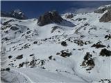 KredaricaLevo zgoraj je MT. Stojim pa med sestopom na zelo gnilem snegu.