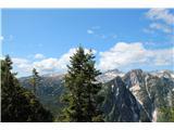 Planina Za Skalo in Kaluderlep pogled proti Krnu