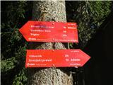 Debela peč, Brda, Lipanski vrh, Mrežcepomanjkljive planinske oznake pri spodnji postaji vlečnice Viševnik