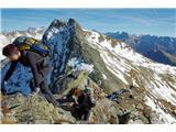 Romatenspitze, 2696 mPogled nazaj po grebenu