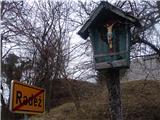 Znamenja (križi in kapelice) na planinskih potehV vasi...