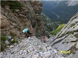 Monte Peralba (2694)še pred vstopom v ferrato