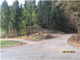 Loška planinska pot   Tukaj sva včeraj začela s hojo