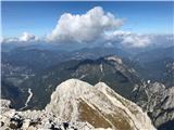 Divja koza - Cima di Riofreddo 2507 mVišarje in Kamniti lovec s SV vrha VIša