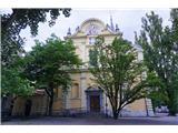 Jakobova pot  - Višarska smer- Cerkev  Svetega Jakoba v Ljubljani...