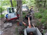 Prelaz Ljubelj (koča)Voda, ki priteče iz predora bo šla po novem skozi čistilno napravo