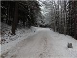 Prelaz Ljubelj (koča)Sneg je na celotni cesti