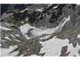Bovški GamsovecSpodnje Kriško jezero je še v snegu