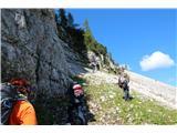 Planina Za Skalo in Kaludervzpon proti žlebu
