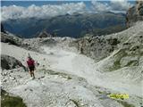 FERRATA SOSAT-Dolomiti di Brentakoča Tuckett na drugi strani jarka in zdaj smučišča Madonne di Campiglio