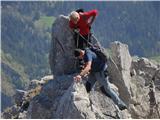 Ojstri vrh 1371mNajlepši del grebena
