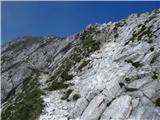 Rodica-Črna prstpogled nazaj - tokrat sem šla po spodnji, neoznačeni poti, na kateri je nekaj pomagal za lažji prehod čez skale (za razliko od označene poti)