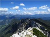 Debela peč, Brda, Lipanski vrh, Mrežcepogled z vrha Debele Peči proti Karavankam