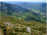 Krasji vrhpogled v dolino od Drežnice do Soče