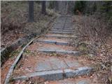 Ljubelj - Koča VrtačaPo stopnicah