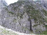 Skriti kotički v gorskem rajutamle gor ampak je strma zavarovana pot
